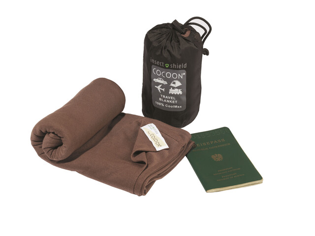 Cocoon Insect Shield Travel Blanket - CoolMax marron